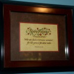 Name plaque with Bible verse