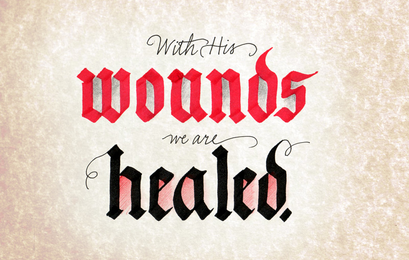 with-His-wounds