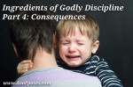 Ingredients of Godly Discipline, Part 4: Consequences