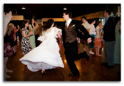Joseph and Hannah dancing at their wedding reception