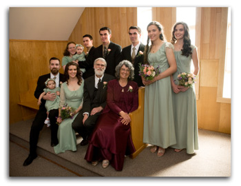 The John & Pam Forster family at Joseph & Hannah's wedding