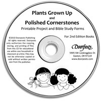 Plants Grown Up and Polished Cornerstones Study Forms on CD